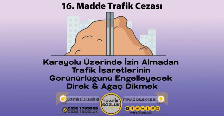 16 trafik cezası