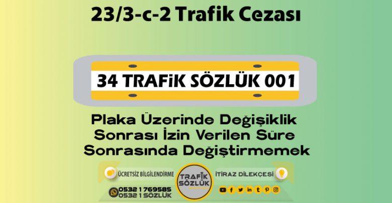 23/3-c-2 trafik cezası