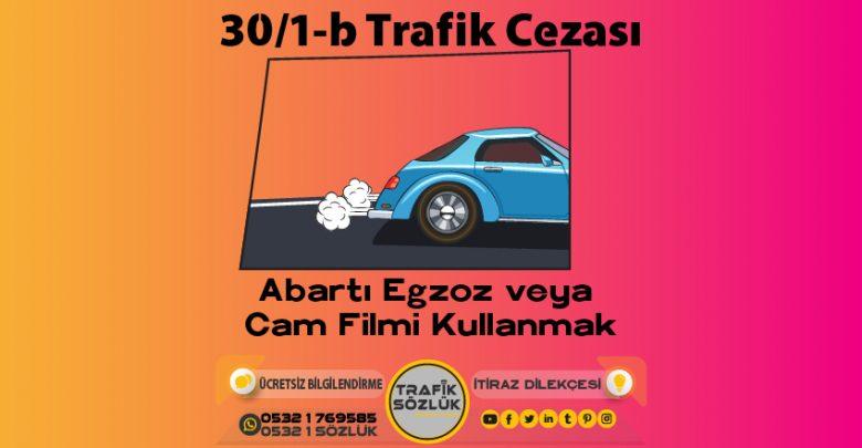 30/1-b trafik cezası