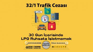 Photo of 32/1 trafik cezası