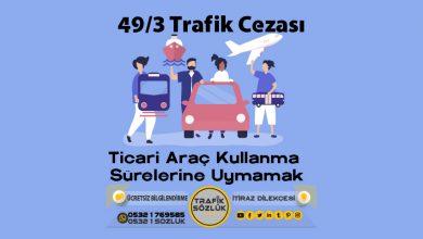 Photo of 49/3 trafik cezası