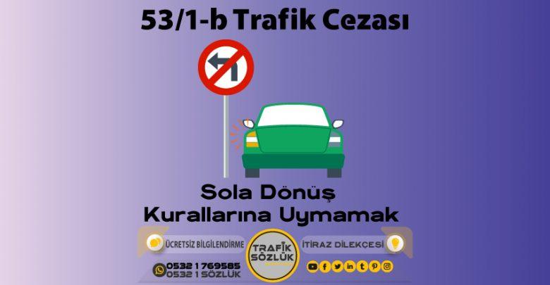53/1-b trafik cezası