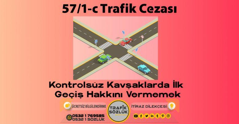 57/1-c trafik cezası
