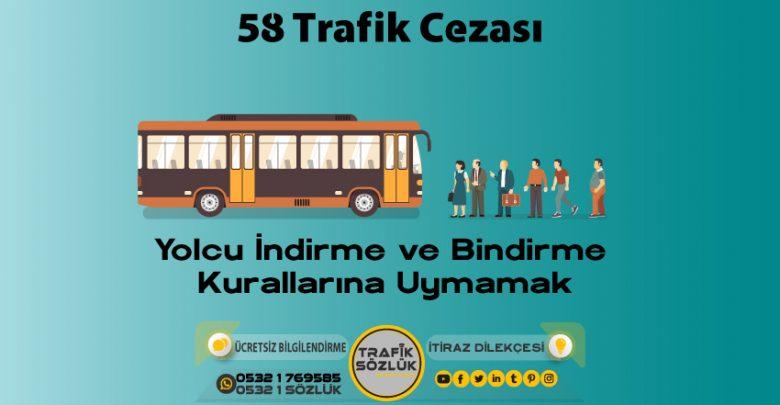 58 trafik cezası