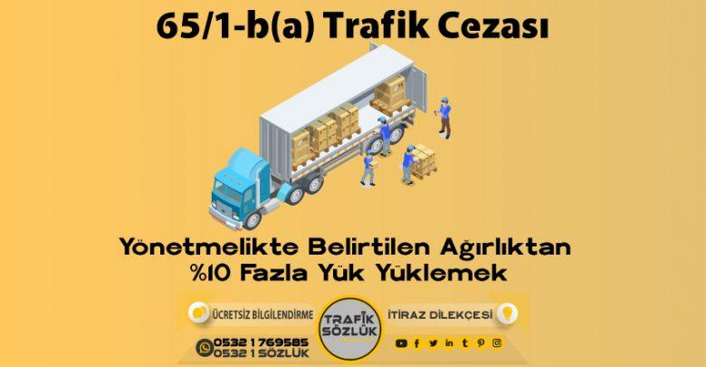 65/1-b (a) trafik cezası