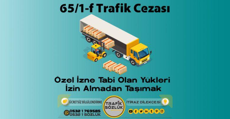 65/1-f trafik cezası