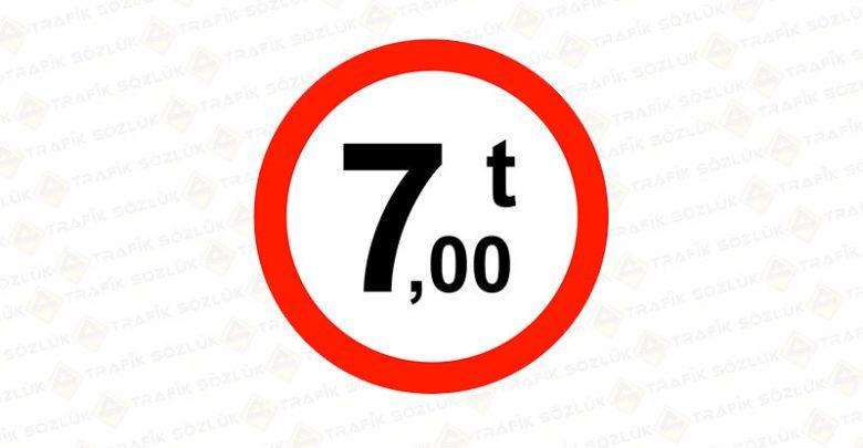Yüklü Ağırlığı Tondan Fazla Taşıt Giremez Levhası TT-24