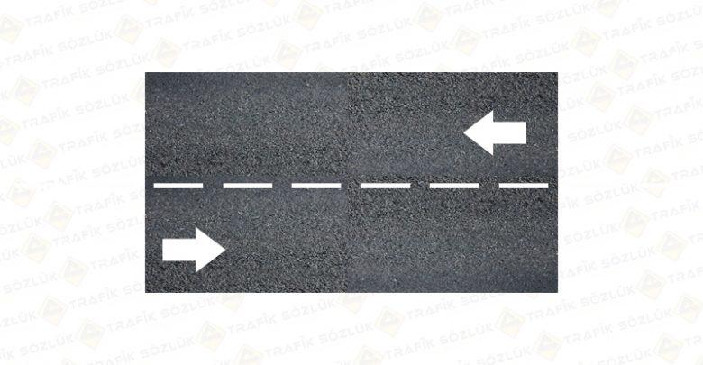 kesikli çizgi yol işareti yatay işaretleri